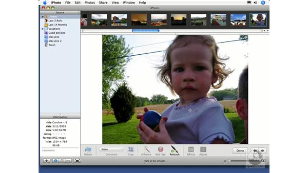 Retouching: iPhoto 6 Essential Training