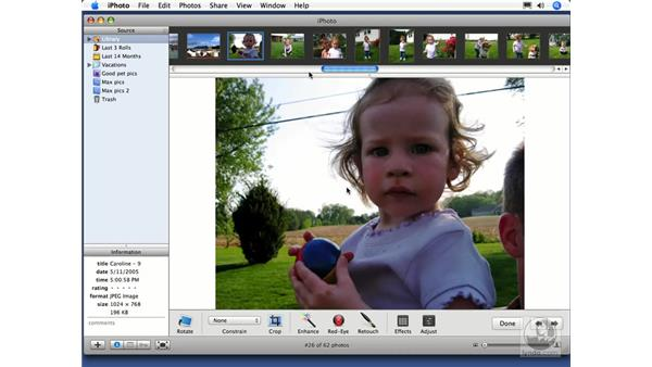 Advanced redeye and retouching: iPhoto 6 Essential Training