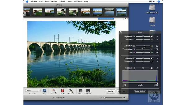 Color adjustments: iPhoto 6 Essential Training