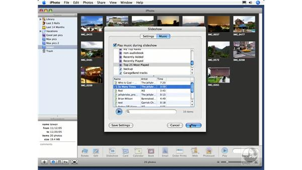 Creating a slideshow: iPhoto 6 Essential Training