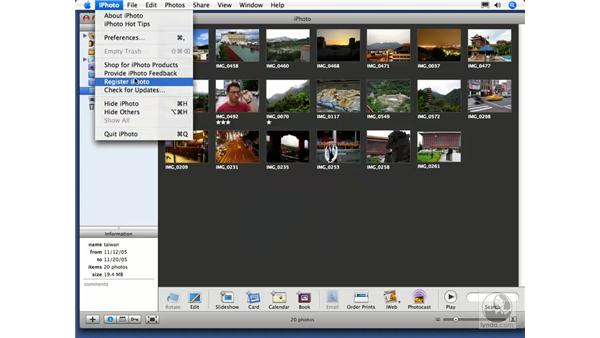 Exporting a slideshow to QuickTime: iPhoto 6 Essential Training