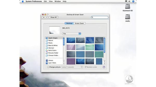 Desktop and screensaver photos: iPhoto 6 Essential Training