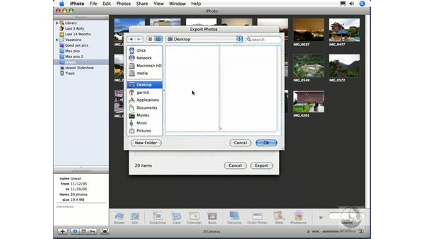 Exporting an HTML Web gallery: iPhoto 6 Essential Training