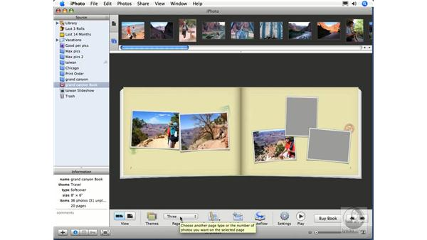 Ordering a photo book pt. 2: iPhoto 6 Essential Training