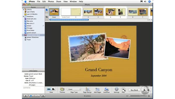 Books as slideshows: iPhoto 6 Essential Training