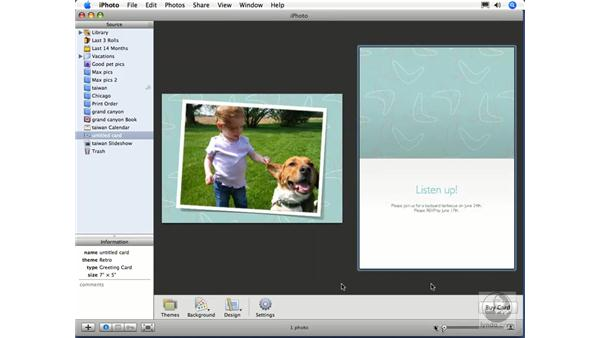 Greeting cards: iPhoto 6 Essential Training