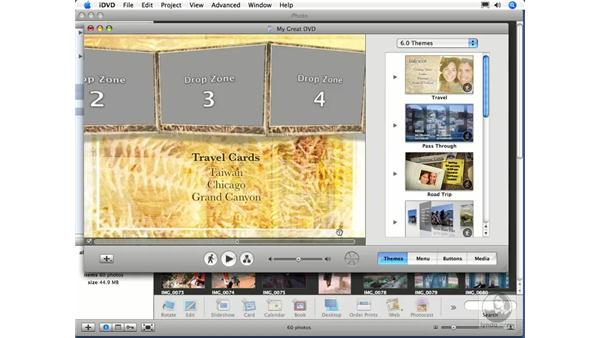 Creating a photo DVD in iDVD: iPhoto 6 Essential Training
