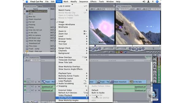 Using the View menu: Final Cut Pro Optimization and Troubleshooting
