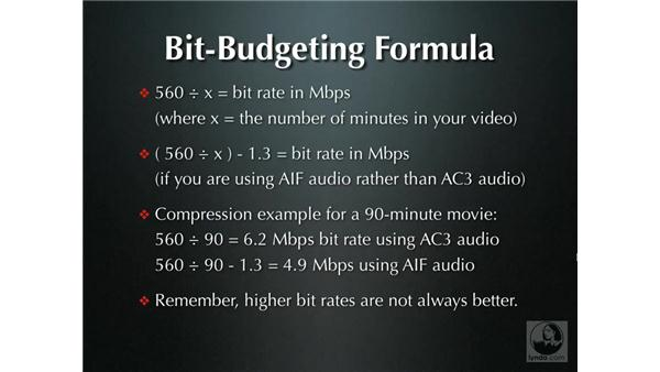 Bit budgeting: Compressor 2.1 Essential Training