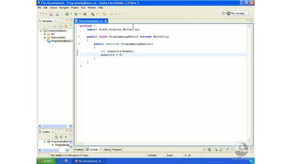 Variables: ActionScript 3.0 in Flex Builder 2.0 Essential Training