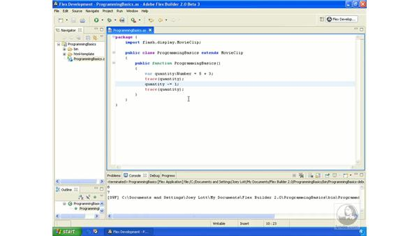 Expressions and operators: ActionScript 3.0 in Flex Builder 2.0 Essential Training