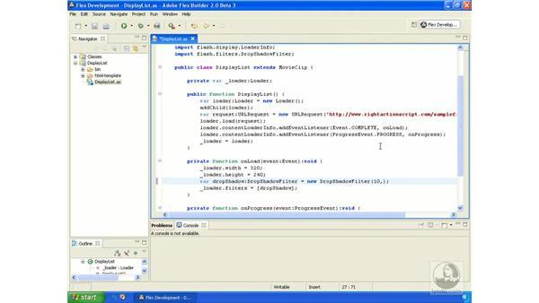 Applying filters: ActionScript 3.0 in Flex Builder 2.0 Essential Training