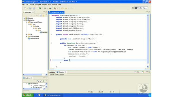 Making a bevel button class: ActionScript 3.0 in Flex Builder 2.0 Essential Training