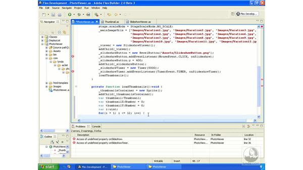Photo viewer application pt. 3: ActionScript 3.0 in Flex Builder 2.0 Essential Training