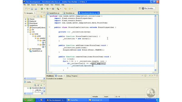 Sample store application pt. 2: ActionScript 3.0 in Flex Builder 2.0 Essential Training