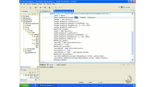 Sample store application pt. 4: ActionScript 3.0 in Flex Builder 2.0 Essential Training
