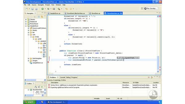 Sample store application pt. 6: ActionScript 3.0 in Flex Builder 2.0 Essential Training