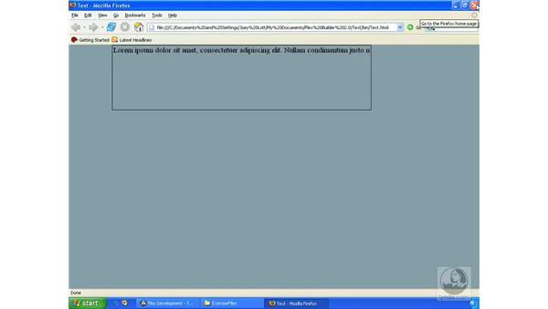 Text fields: ActionScript 3.0 in Flex Builder 2.0 Essential Training