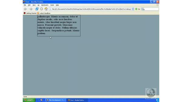 Scrolling text: ActionScript 3.0 in Flex Builder 2.0 Essential Training