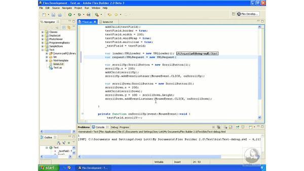 Loading text: ActionScript 3.0 in Flex Builder 2.0 Essential Training