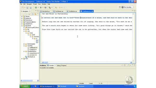 Storybook application pt. 4: ActionScript 3.0 in Flex Builder 2.0 Essential Training
