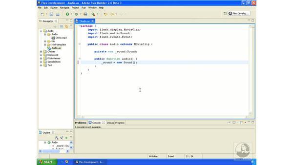 Loading sound: ActionScript 3.0 in Flex Builder 2.0 Essential Training