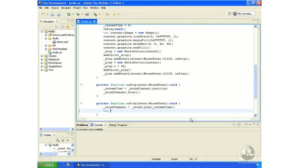 Volume: ActionScript 3.0 in Flex Builder 2.0 Essential Training