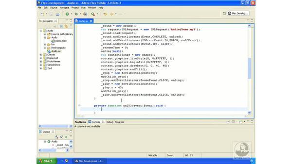 Reading ID3 data: ActionScript 3.0 in Flex Builder 2.0 Essential Training