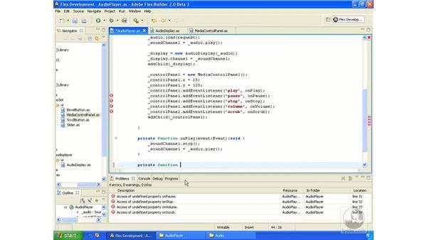 Audio player application pt. 4: ActionScript 3.0 in Flex Builder 2.0 Essential Training
