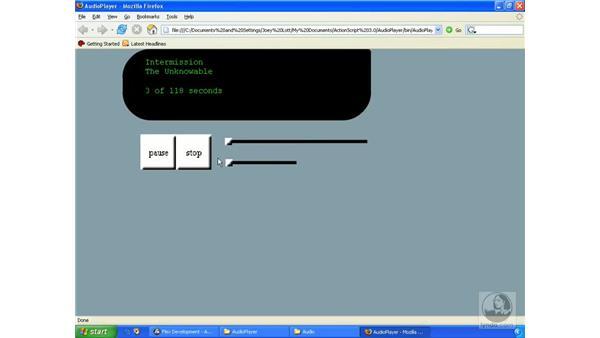 Audio player application pt. 7: ActionScript 3.0 in Flex Builder 2.0 Essential Training