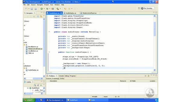 Audio player application pt. 8: ActionScript 3.0 in Flex Builder 2.0 Essential Training