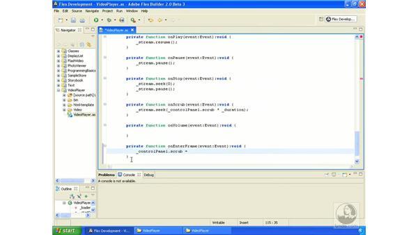 Video player application pt. 4: ActionScript 3.0 in Flex Builder 2.0 Essential Training