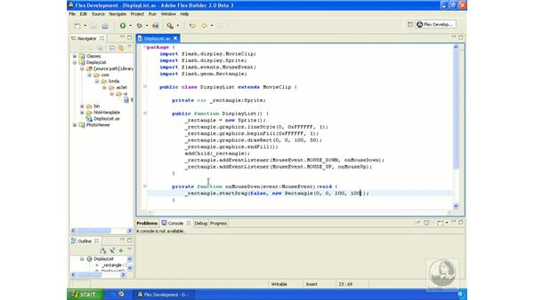 Making draggable objects pt. 2: ActionScript 3.0 in Flex Builder 2.0 Essential Training