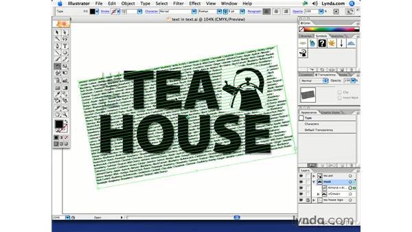 Text in text: Illustrator CS2 Creative Techniques