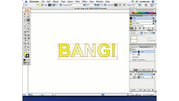Warped comic book text: Illustrator CS2 Creative Techniques