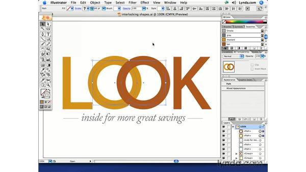 Interlocking objects: Illustrator CS2 Creative Techniques