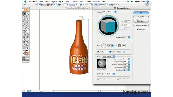Mocking up a product and label: Illustrator CS2 Creative Techniques