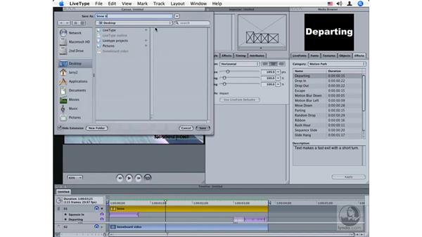 Importing and exporting files between LiveType and Final Cut: LiveType 2 Essential Training