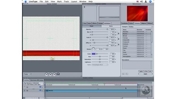 Working with textures: LiveType 2 Essential Training