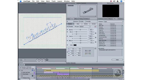 Creating custom effects pt. 3: LiveType 2 Essential Training