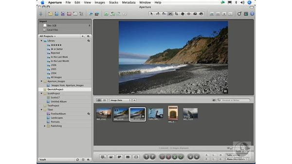 Cropping and straigthening: Aperture 1.1 Essential Training