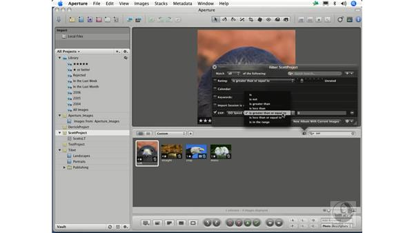 Searching with metadata: Aperture 1.1 Essential Training