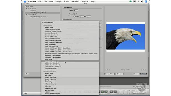 Making your first print: Aperture 1.1 Essential Training