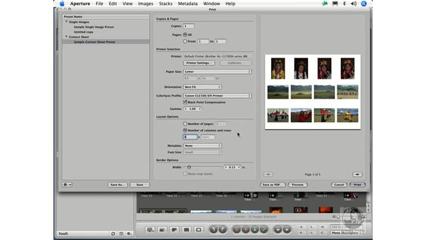 Creating a contact sheet: Aperture 1.1 Essential Training