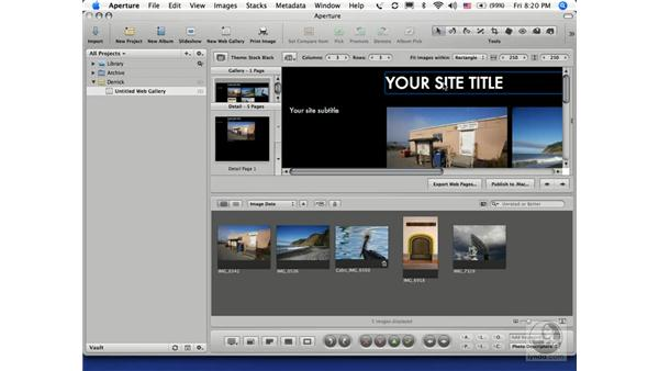 Publishing to a .Mac account: Aperture 1.1 Essential Training