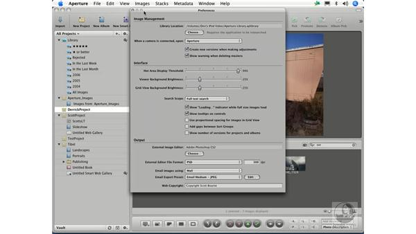 Choosing a different library: Aperture 1.1 Essential Training