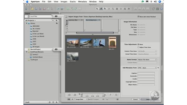 Importing images from your hard drive: Aperture 1.1 Essential Training