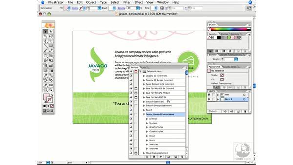 Reducing file size: Illustrator CS2 Power Shortcuts