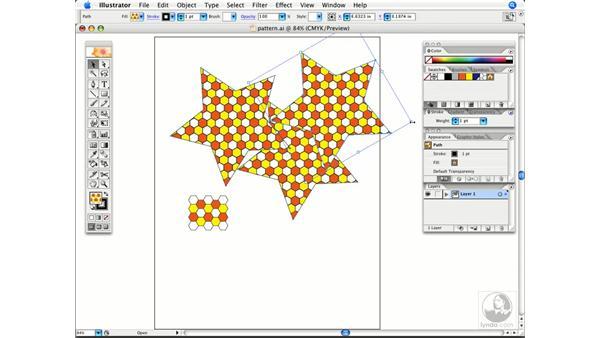 Transforming pattern fills: Illustrator CS2 Power Shortcuts