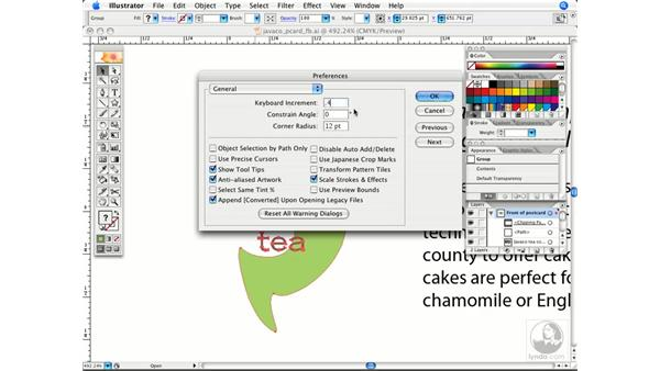 Using defined arrow movements: Illustrator CS2 Power Shortcuts